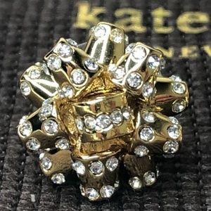 kate spade Jewelry - KATE SPADE ' PAVE' BOURGEOIS BOW' STUD EARRINGS